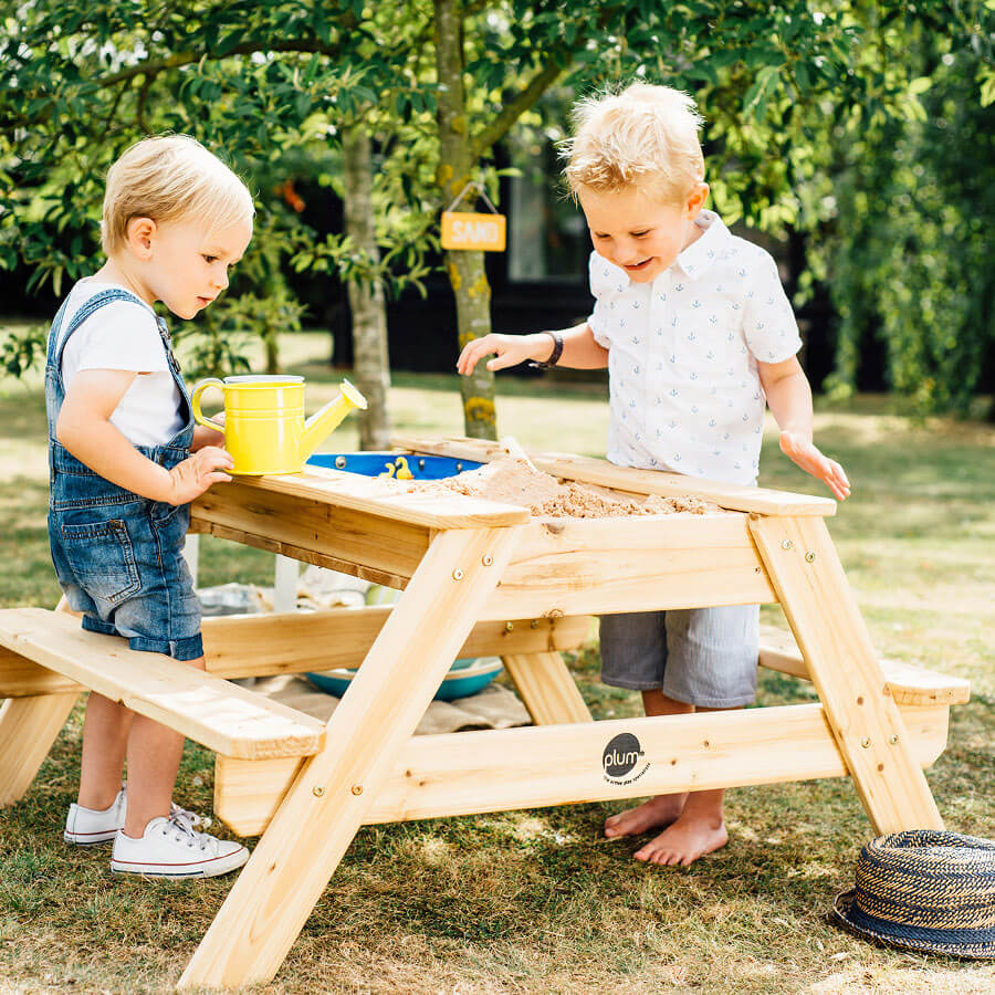... Plum Surfside Sand U0026 Water Wooden Picnic Table ...