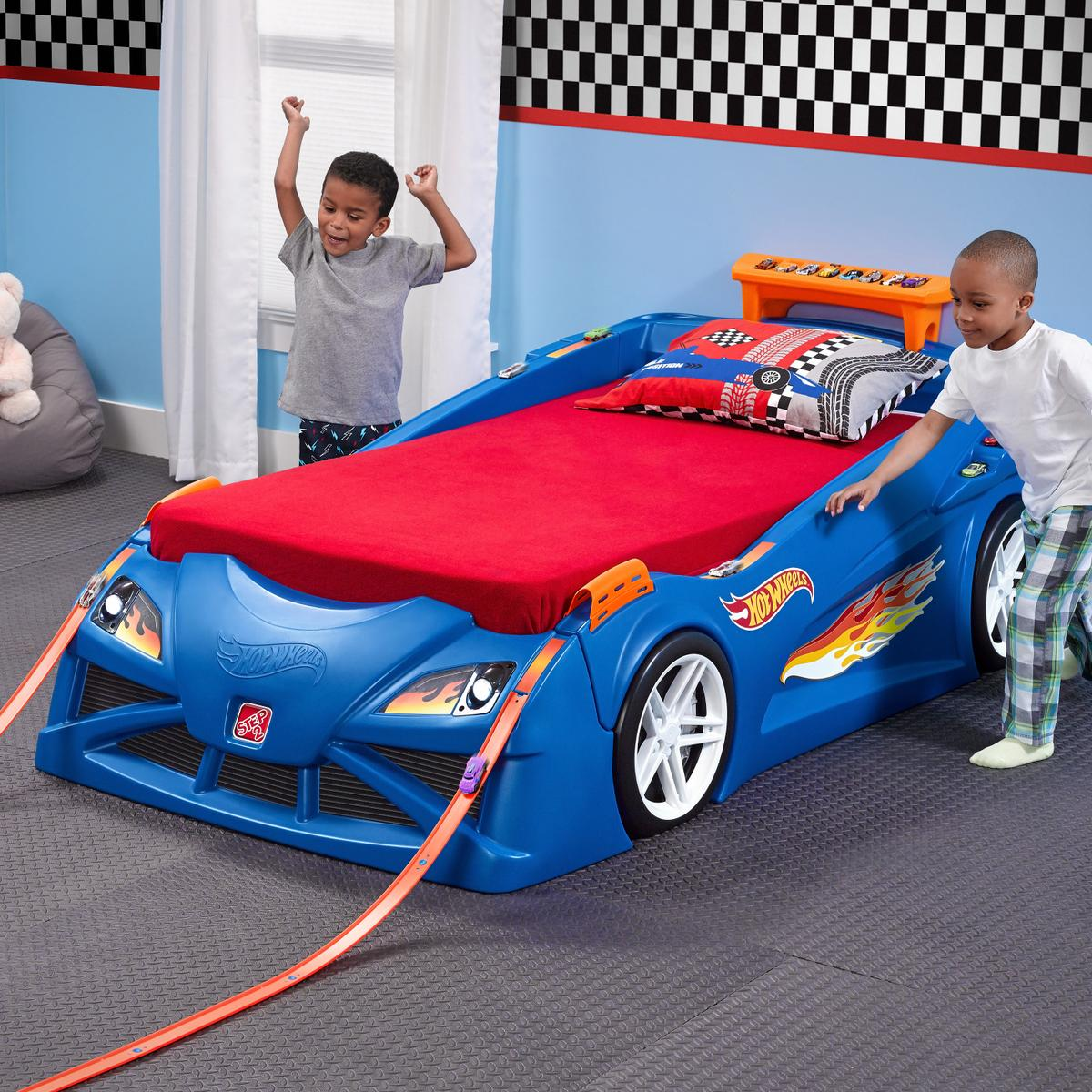 toddler bed kidkraft race plus from excerpt beds genial ah boys sport wallpaper car reviewing lovable in