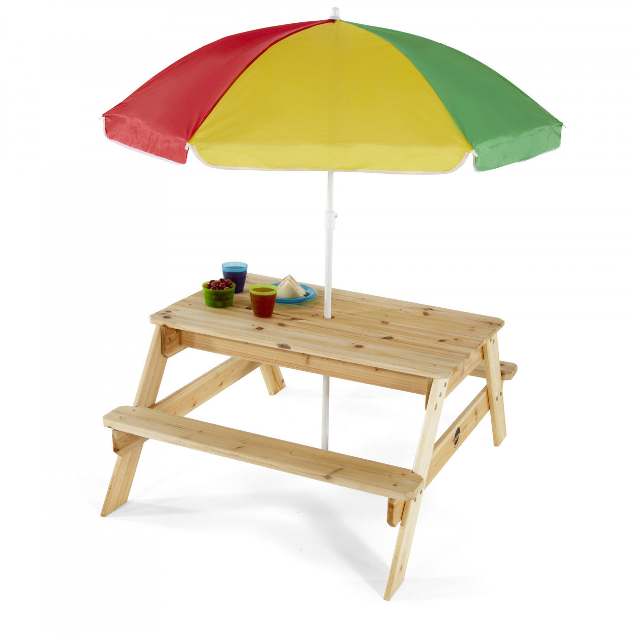 Plum Children's Garden Picnic Table and Parasol