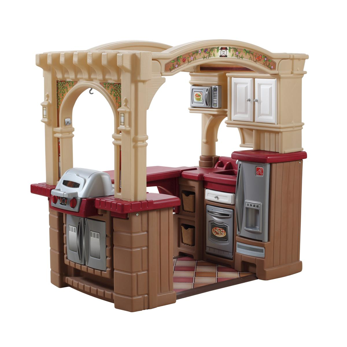 They deserve a play kitchen as grand as the real deal, which is why they'll love this Grand Walk-In Kitchen from Step2. With a sink, stove, oven, microwave, mini fridge, cubbies and a cabinet, it's sure to keep them entertained for hours.