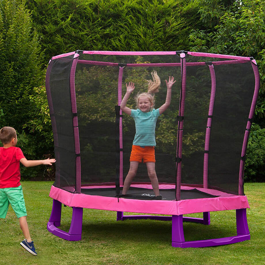 Plum 7ft Junior Jumper Trampoline - Pink and Purple