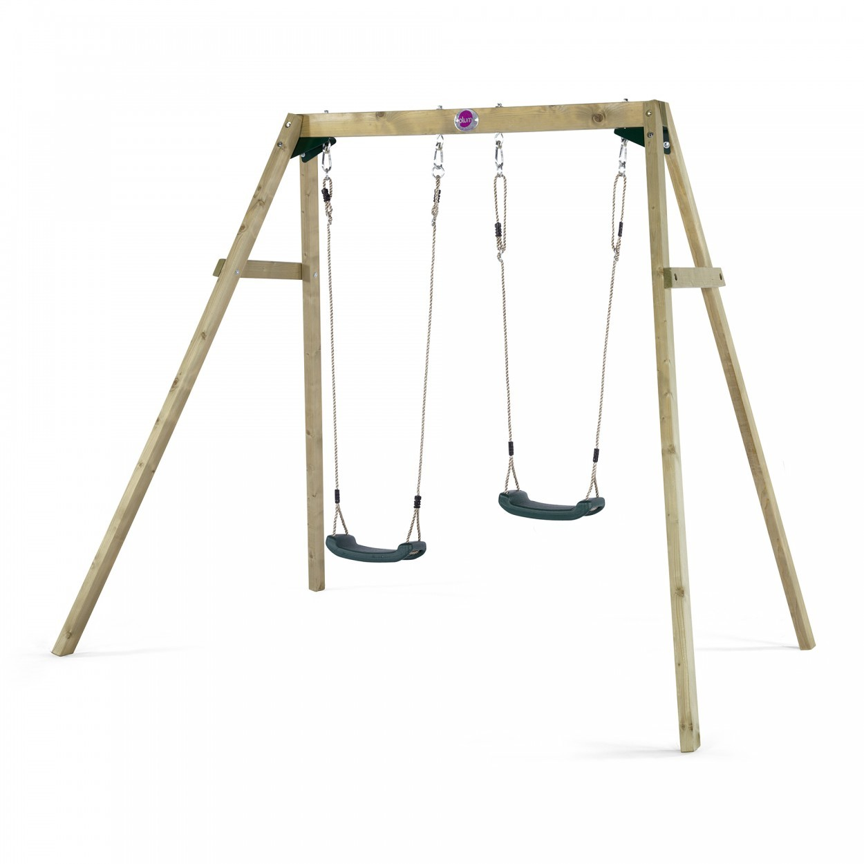 Plum Double Wooden Swing plus FREE Protektamats (2 pack)