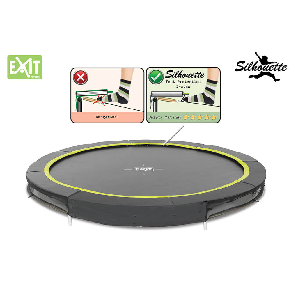 EXIT Toys Black Edition Ground Trampoline