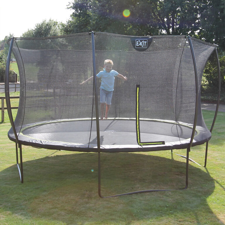 EXIT Toys Lime Edition Trampoline with Safety Net