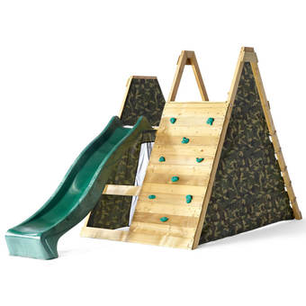Plum Climbing Pyramid Wooden Play Centre with 8ft Slide