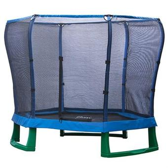 Plum 7ft Junior Trampoline - Blue and Green