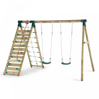 Plum Uakari Wooden Swing Set